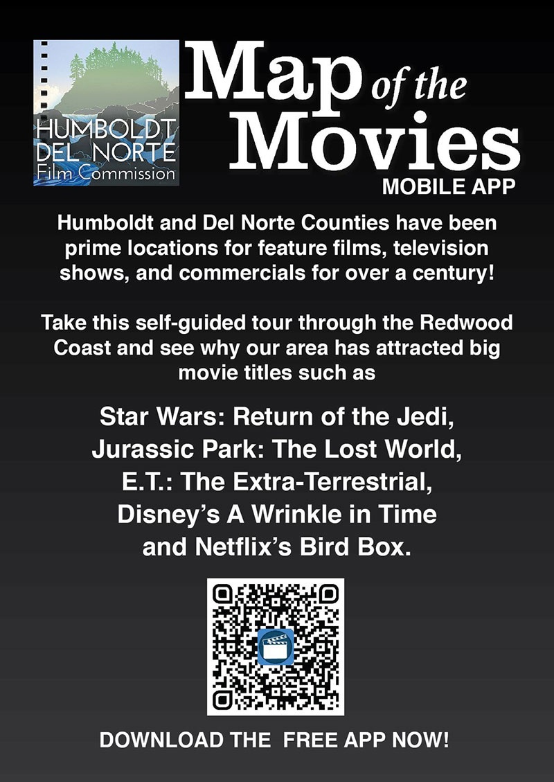Map of the Movies App for Del Note County, California - Download the app with this QR code